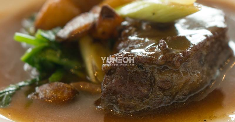 Slow-cooked wagyu beef cheeks