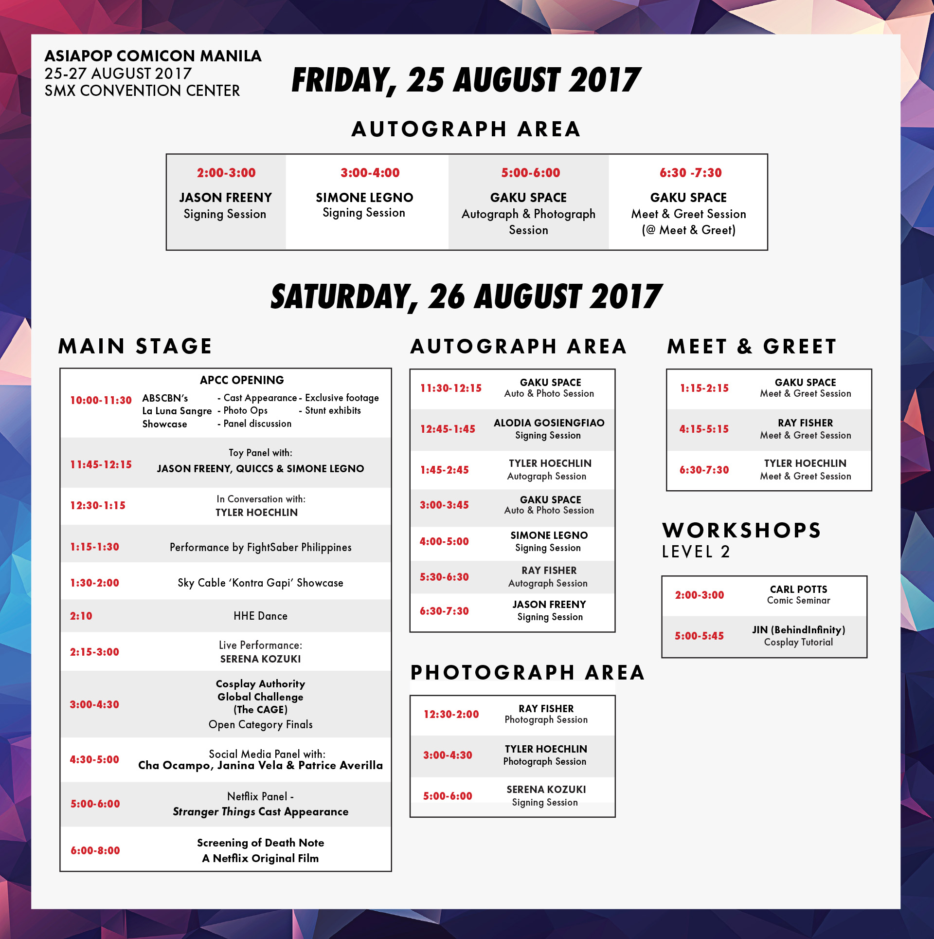 Event Schedule FB