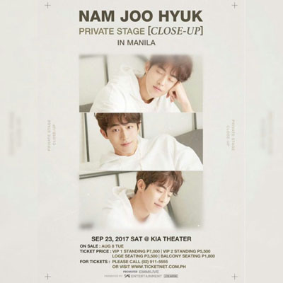 Nam Joo Hyuk Private Stage Fanmeeting In Manila Kia Theatre, Quezon City Philippines