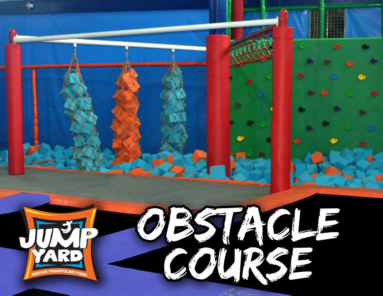 Have fun with friends here at the obstacle course.
