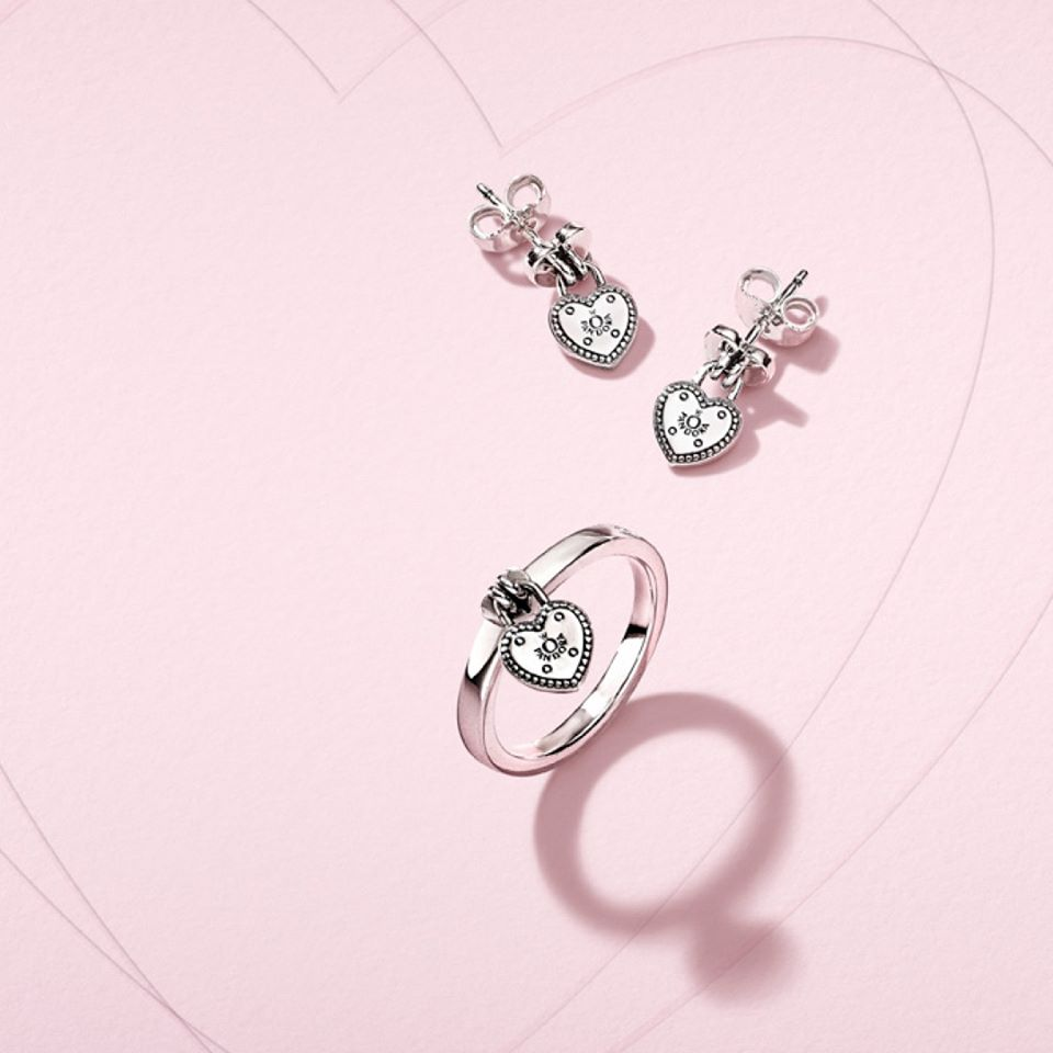 The Love Lock are priced at P2,650 (earrings) and P2650 (ring).