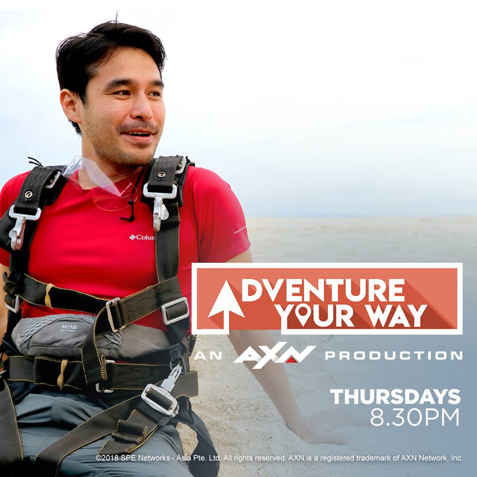 Join Atom Araullo in AXN's newest travel show, Adventure Your Way, Image via Official Facebook page.