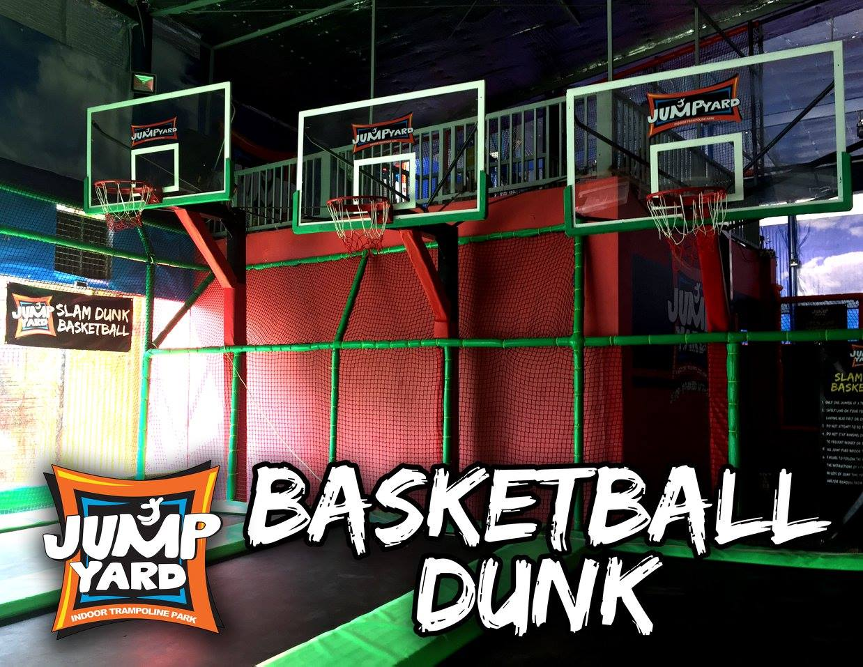 Boys and girls are sure to enjoy doing that slam dunk moment here at the Basketball dunk area.