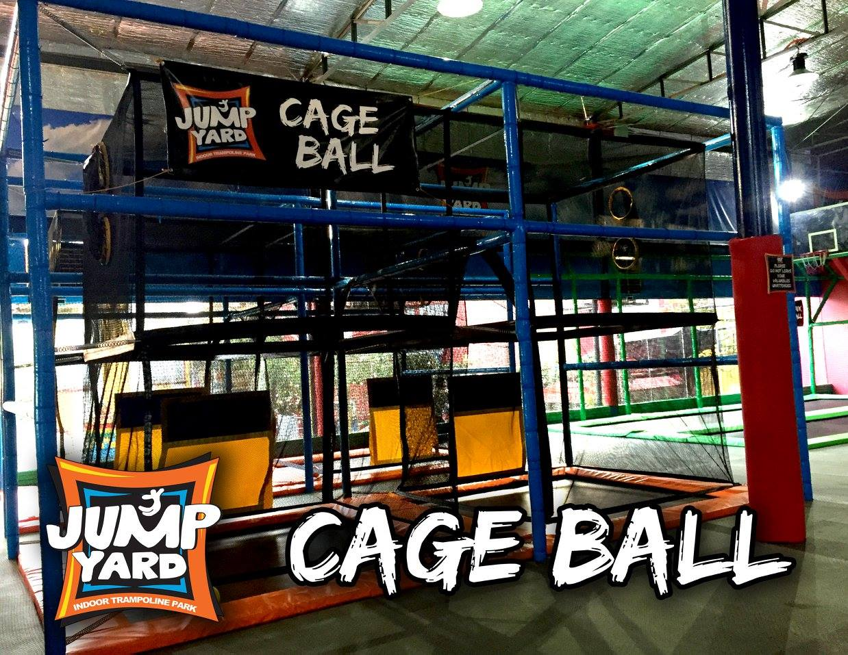 Get your game face on and score the most points in 2 minutes by shooting into the opposite goal. Play at the Cage Ball area.