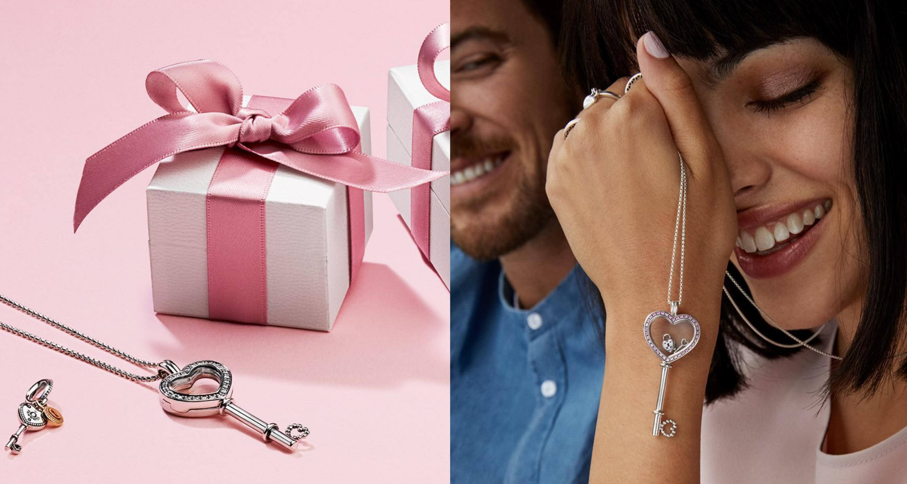 Surprise your loved ones with this amazing jewelry. Heart Key Locket is available in medium (P8,450) and large (P9,650), and the Key to My Heart pendant charm is priced at P4,550.